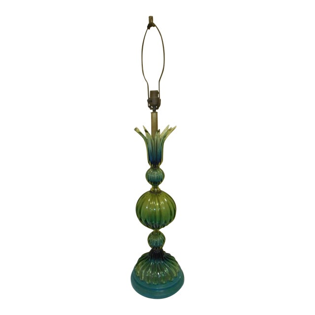 Murano Glass Lamp by Barovier Toso - Image 1 of 8
