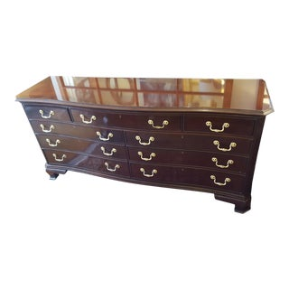 Wood & Brass Double Chest of Drawers