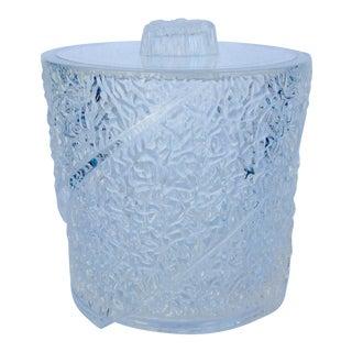 Mid-Century Lucite Iceberg Textured Lidded Ice Bucket