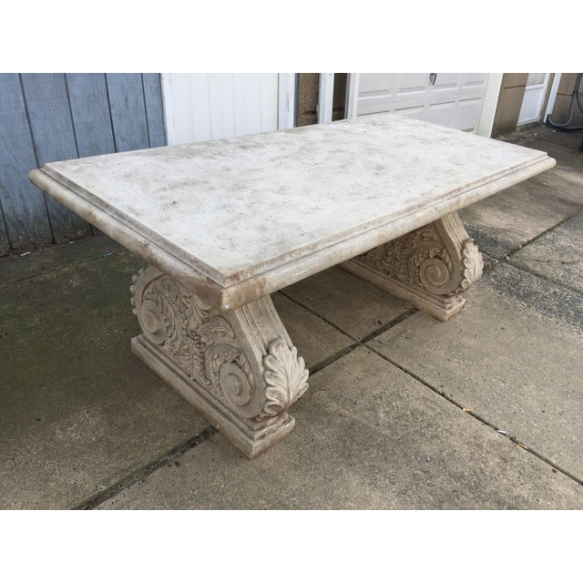 Vintage Faux Stone Dining Table Chairish