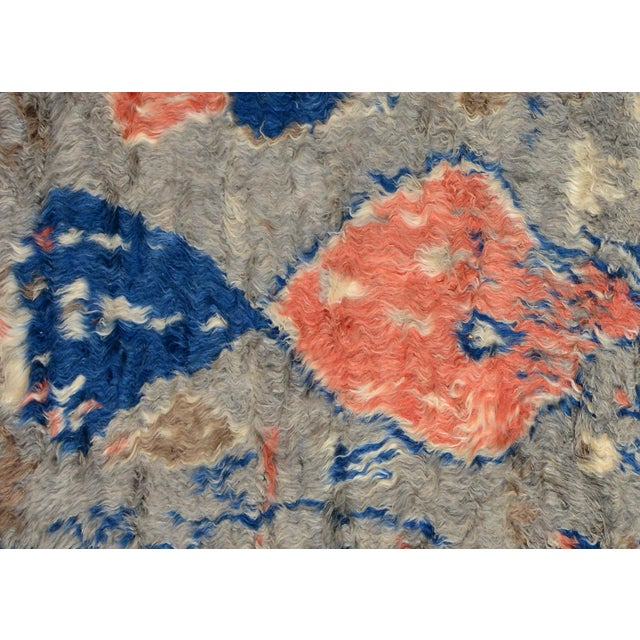 "Moroccan Arya Brendon Gray & Blue Wool Rug - 4'8"" x 6'9"" - Image 2 of 8"