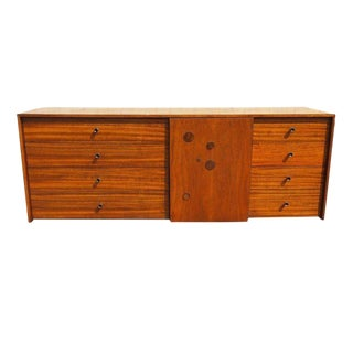 Walnut Credenza Sideboard with Dot Details