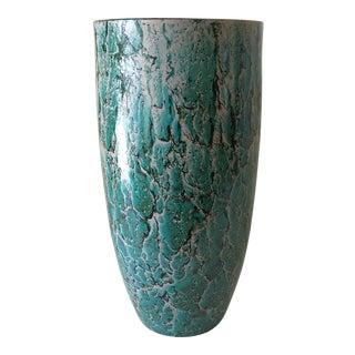 Marbleized Artisan Glass Vase
