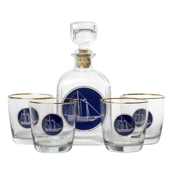 """America's Cup"" Richard Bishop Decanter Set - Image 1 of 3"