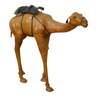 Vintage Leather Standing Camel