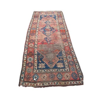 Antique Persian Rug Hand Knotted Wool Tribal Runner - Boho Chic