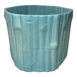 Blue Bamboo Flower Pot
