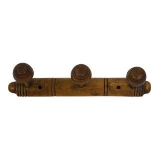 19th Century Wooden Coat Rack