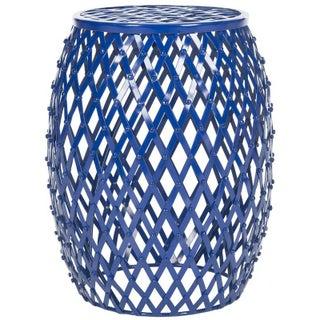 Evan Iron Strips Welded Stool - Blue