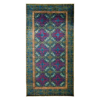"Suzani, Hand Knotted Victorian Wool Area Rug - 5' 2"" X 9' 10"""