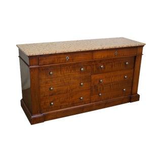 Bloomingdale's Italian Marble Top Cherry Wood Dresser