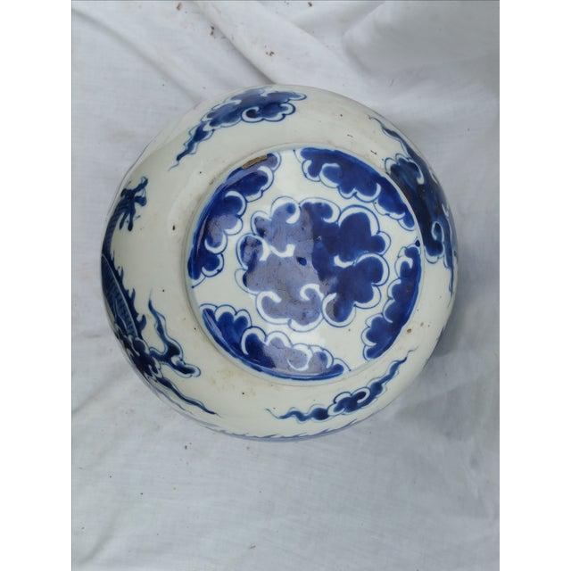 Image of Blue & White Dragon Ginger Jar