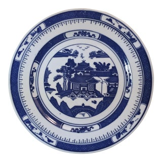 Vintage Canton Blue & White Plate
