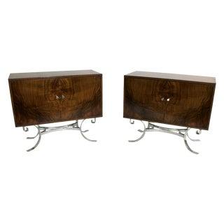 Mid-Century Italian Walnut Cabinets - A Pair