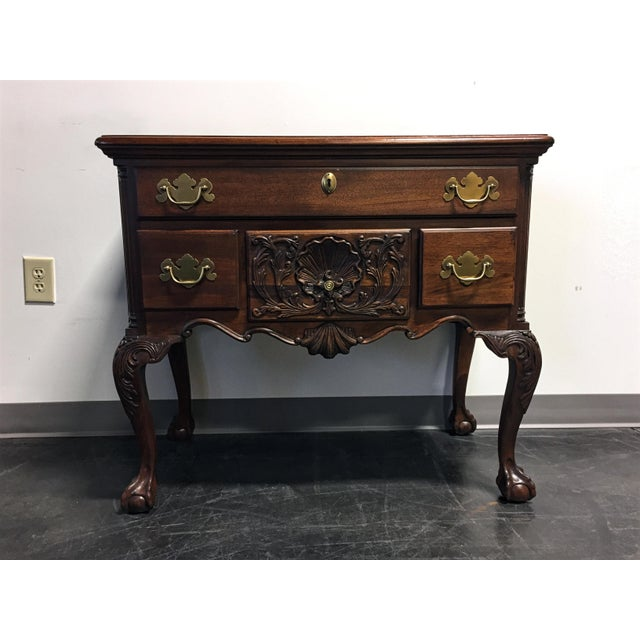 Wellington Hall Mahogany Chippendale Style Low Boy Chest - Image 2 of 11