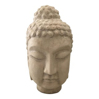 Chinese Ivory Ceramic Buddha Head