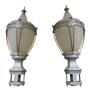 Deco Street Lamp Globes - a Pair