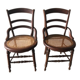 19th Century Cane Chairs Pennsylvania - A Pair