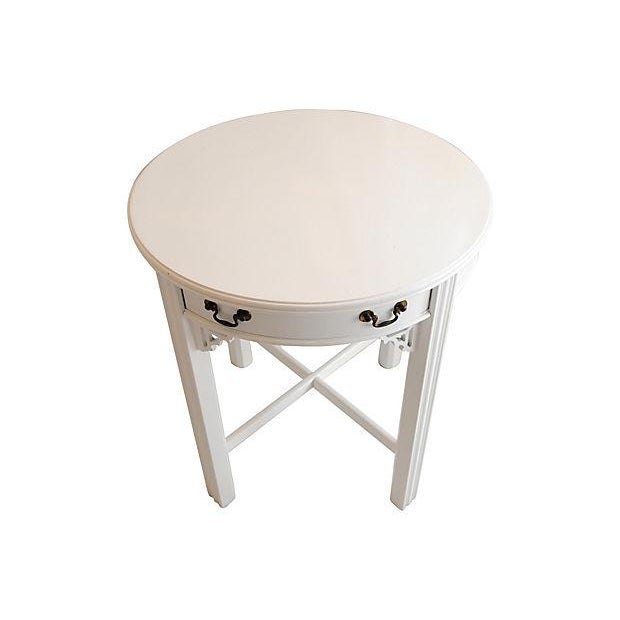 White Lacquer Side Table - Image 3 of 4