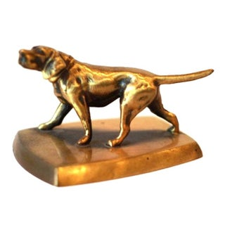 Solid Brass Dog Paperweight