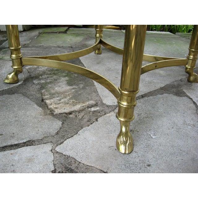 Vintage Brass LaBarge Table - Image 4 of 8