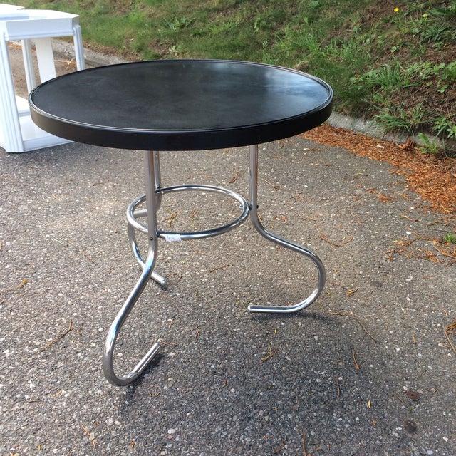 Image of English Art Deco Bakelite & Chrome Low Table