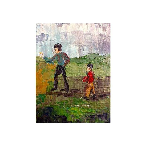 Image of Charlotte Kindberg Vintage 1970s Oil Painting