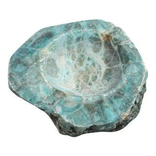 Vintage Turquoise Stone Ashtray