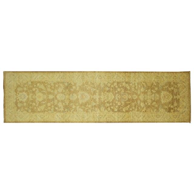 Hand Knotted Wool Mocha Chobi Runner - 3' x 10' - Image 1 of 8