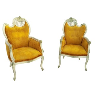 Antique Directional Fireside Fauteuils