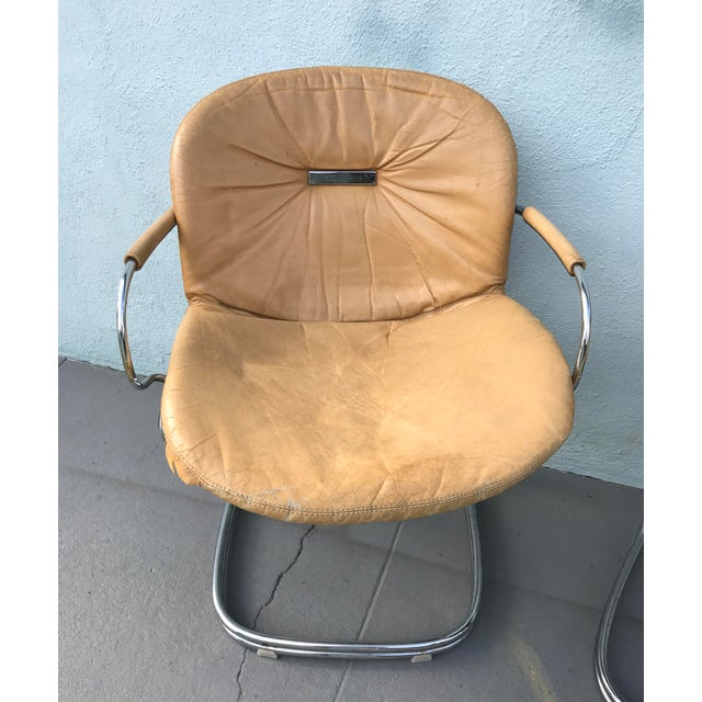 1970s Gastone Rinaldi for Rima Linea Chrome Tubular Chairs - A Pair - Image 3 of 9