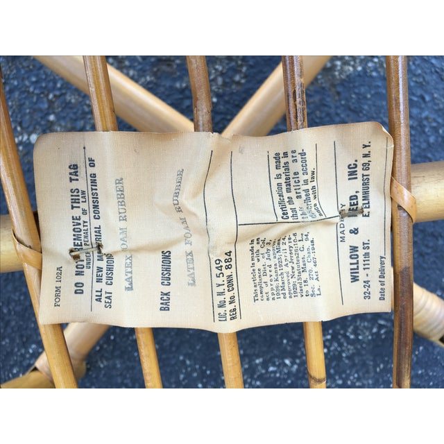 Vintage Ficks & Reed Rattan Barrel Chairs - 4 - Image 11 of 11