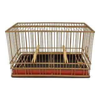 Vintage Japanese Bamboo Bird Cage