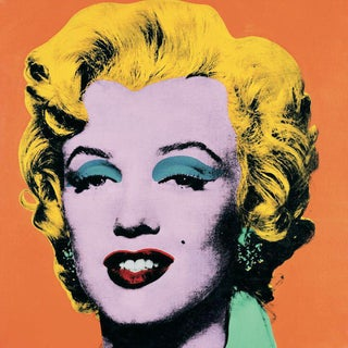 1989 Marilyn Orange Poster by Andy Warhol