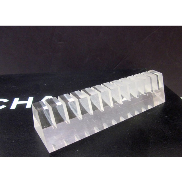 Image of Guzzini Lucite Business Card Desk Organizer