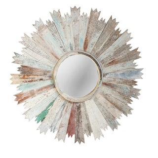 Reclaimed Wood Sunburst Mirror