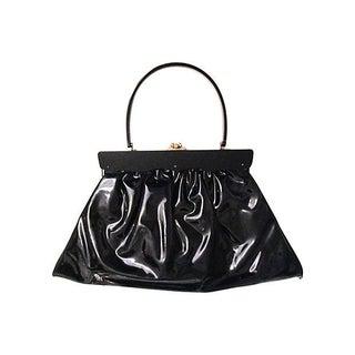 1960s Black Patent Handbag