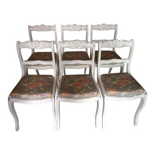 Vintage Country Chic Side Chairs - Set of 6