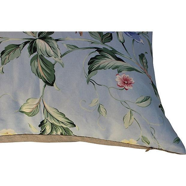 Scalamandre Floral & Bird Chinoiserie Pillows - a Pair - Image 2 of 6