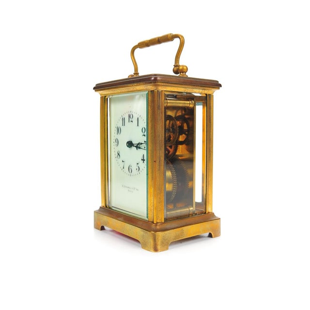 Stowell & Co. Antique Brass Carriage Clock - Image 2 of 9