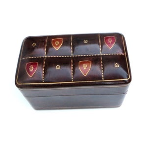 Italian Leather Card Box