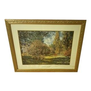 """Claude Monet """"Le Parc Monceau"""" Framed Print"""