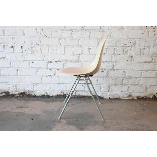 Charles Eames for Herman Miller DSS Stacking Chairs in Parchment - Set of 4 - Image 5 of 9
