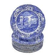 Vintage English Spode Italian Plates - Set of 12