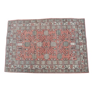 Afghani Hand Knotted Multi Color Rug- 3′3″ × 5′1″