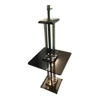Mid-Century Modern Standing Lucite Floor Lamp