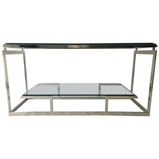 Modern Chrome & Glass Console Table