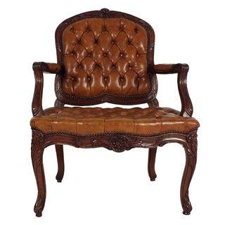 1970s Louis XV-Style Open Armchair