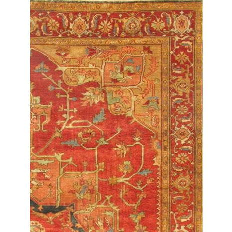 "Pasargad Serapi Collection Red Rug - 4' X 5'11"" - Image 2 of 2"
