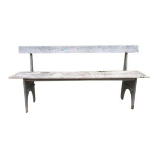 Vintage Rustic Driftwood Bench